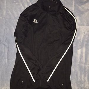 Russell men's XXL athletic jacket, black & white